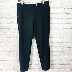 Pants - H&M Size 14 Black Pants w/ Gold Accents Ankle